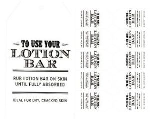 how to use a lotion bar gift tag