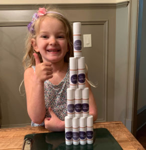 little girl getting natural eczema treatment relief using madeon's simply soothing rash cream